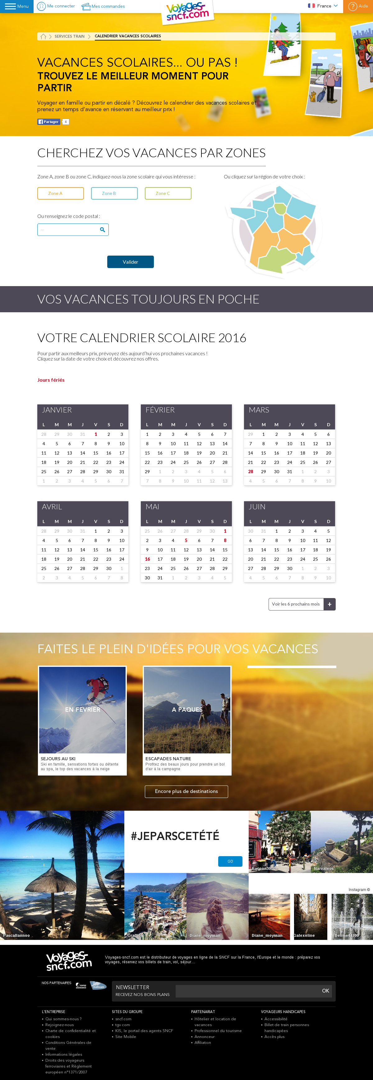 Voyages Sncf Calendrier.Calendrier Vacances Scolaires Webu Grenoble Valence